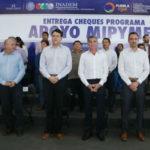 Entregan apoyos a empresas poblanas con afectaciones por el sismo